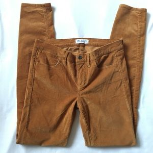 Madewell Skinny Cords golden mustard jeans pants